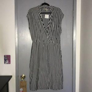 Brand New Blue & White Stripped Dress